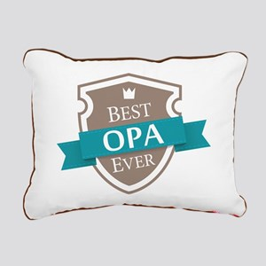 Best Opa Ever Rectangular Canvas Pillow