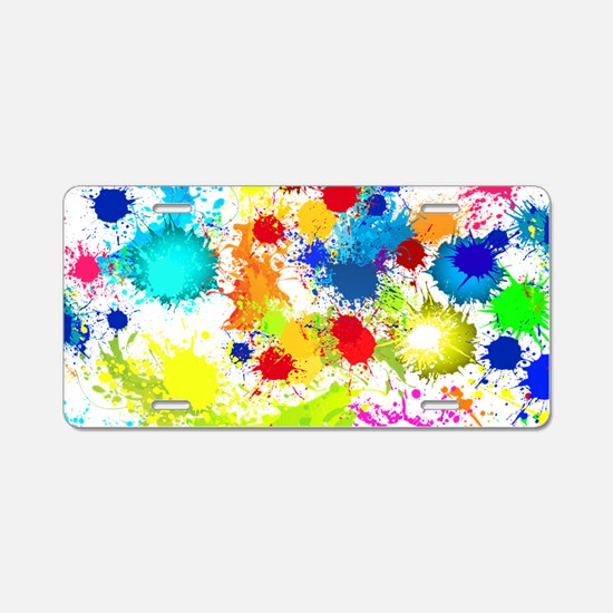 Paintball Splatter Wall Aluminum License Plate