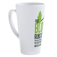 Our Blood Runs Green 17 oz Latte Mug