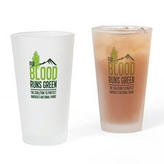 Our Blood Runs Green Drinking Glass