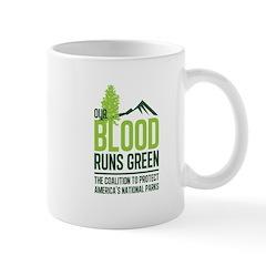 Our Blood Runs Green Mugs