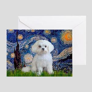 Starry Night / Maltese Greeting Card