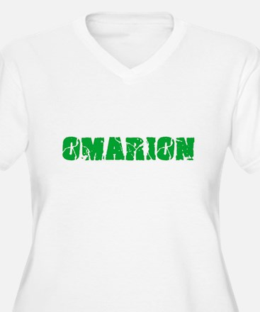 Omarion Name Weathered Green Des Plus Size T-Shirt