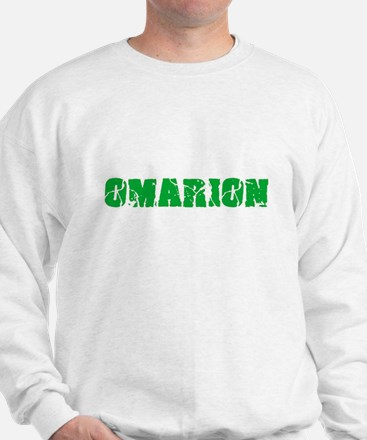 Omarion Name Weathered Green Design Sweatshirt
