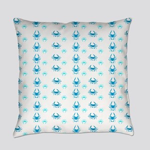 Aqua Crabs Pattern Everyday Pillow