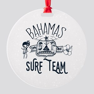 Bahamas Surf Team Round Ornament