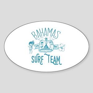 Bahamas Surf Team Sticker (Oval)