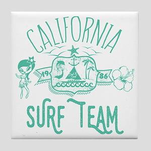 California Surf Team Tile Coaster