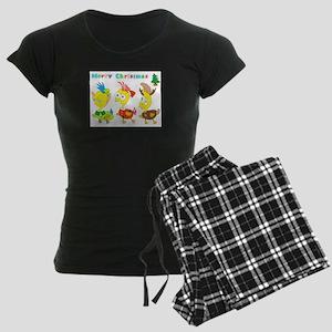micchiee / duck trio / chris Women's Dark Pajamas