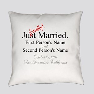 Finally Married Everyday Pillow
