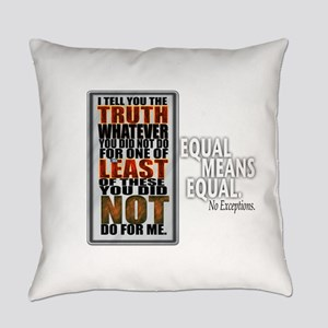 Equal Means Equal Square Everyday Pillow
