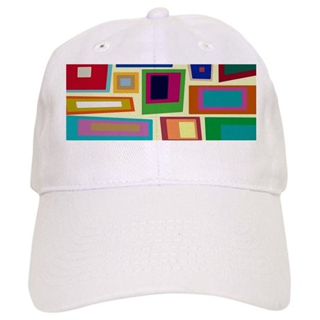 Colorful Square Mid Century Modern Baseball Baseball Cap by FunImages101 b19f0e5dd65