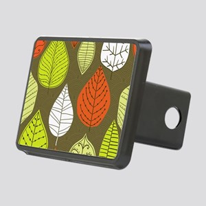 Leaves on Green Mid Century Modern Hitch Cover