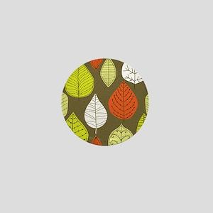 Leaves on Green Mid Century Modern Mini Button