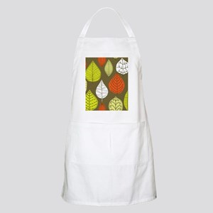 Leaves on Green Mid Century Modern Apron