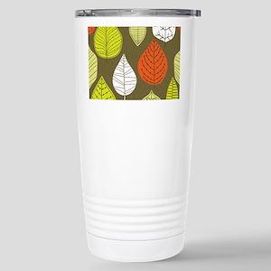 Leaves on Green Mid Century Modern Travel Mug