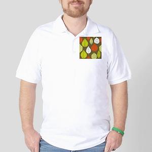 Leaves on Green Mid Century Modern Golf Shirt