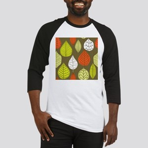 Leaves on Green Mid Century Modern Baseball Jersey
