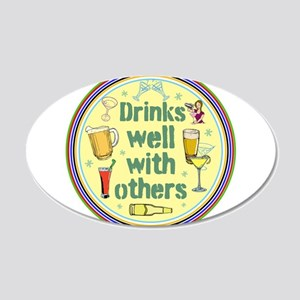 Drinks well with others Wall Decal