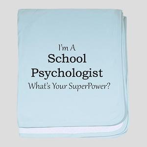 School Psychologist baby blanket