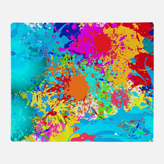 Splat Cluster Throw Blanket