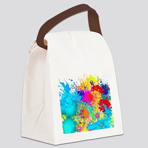Splat Cluster Canvas Lunch Bag