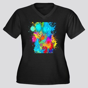 Splat Vertical Plus Size T-Shirt