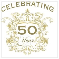 50th Wedding Anniversary Canvas Art
