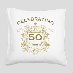 50th Wedding Anniversary Square Canvas Pillow