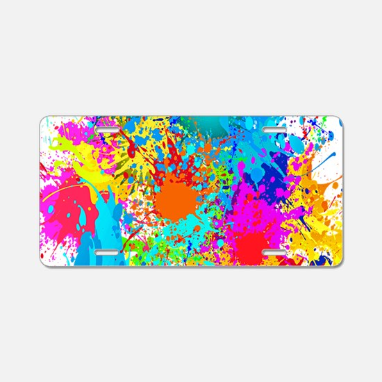 Splat Vertical Aluminum License Plate