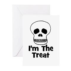 I'm The Treat (skull) Greeting Cards (Pk of 20)
