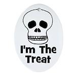 I'm The Treat (skull) Oval Ornament