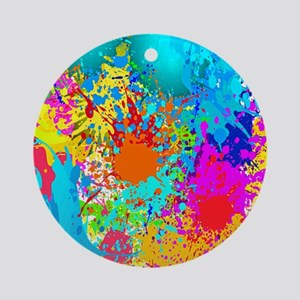 Splat Vertical Round Ornament