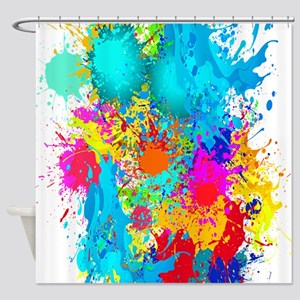 Splat Vertical Shower Curtain