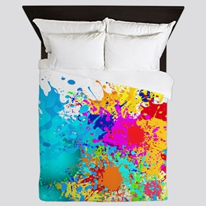 Splat Cluster Queen Duvet