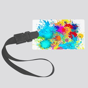 Splat Cluster Large Luggage Tag