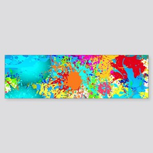 Splat Cluster Bumper Sticker