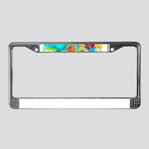 Splat Cluster License Plate Frame