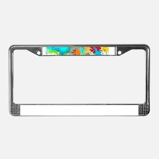 Splat Cluster License Plate Frame