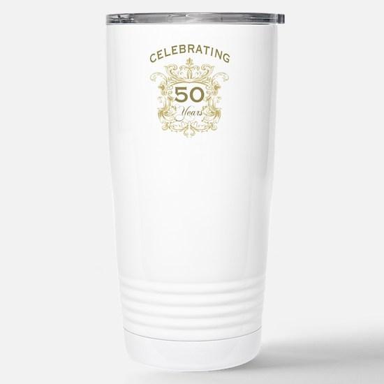 50th Wedding Anniversar Stainless Steel Travel Mug