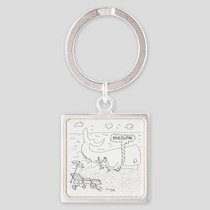Whale Cartoon 9283 Square Keychain