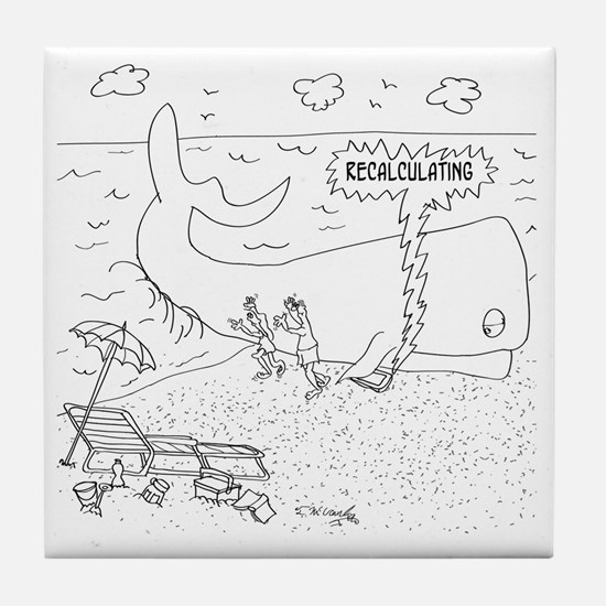 Whale Cartoon 9283 Tile Coaster