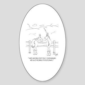 Migraine Cartoon 9280 Sticker (Oval)
