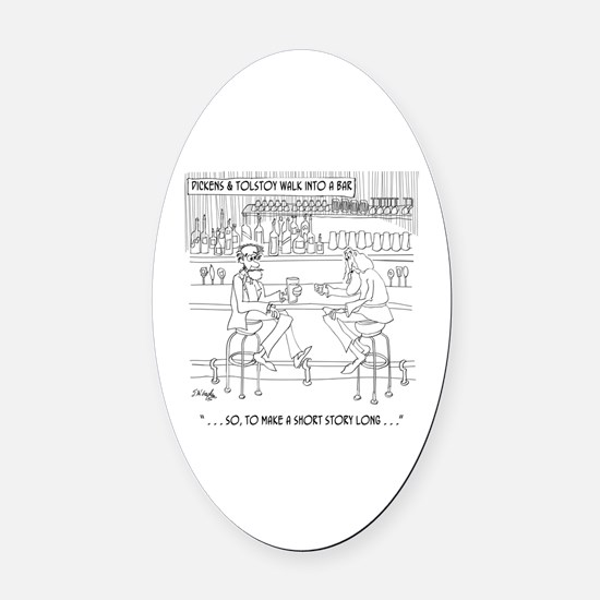 Literature Cartoon 9267 Oval Car Magnet