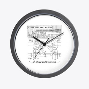 Literature Cartoon 9267 Wall Clock