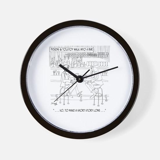 Literature Cartoon 9267 Wall Clock