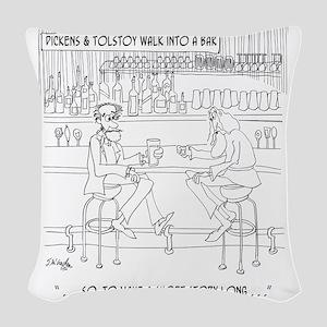 Literature Cartoon 9267 Woven Throw Pillow