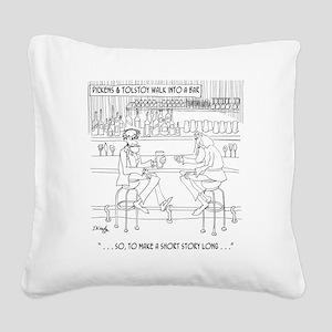 Literature Cartoon 9267 Square Canvas Pillow