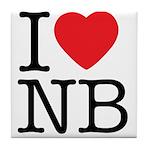 I Heart NB Tile Coaster