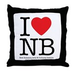 I Heart NB Throw Pillow